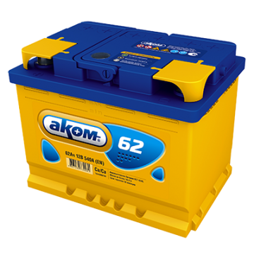 Аккумуляторная батарея АКОМ 6СТ-62 п.п