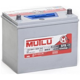 Аккумулятор Mutlu SFB M3 6СТ-68.0 (70D23FL) бортик
