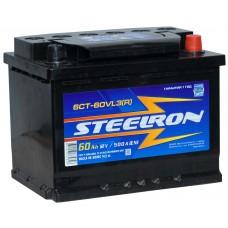Аккумулятор 6ст - 60VLЗ STEELRON  пр