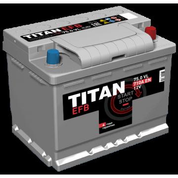 Аккумулятор TITAN EFB 6СТ-75.0 VL о.п. (710 А)