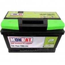 Аккумулятор MONBAT Р 6СТ-74 Ah R+