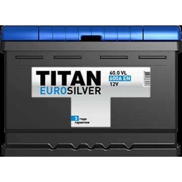 Аккумуляторная батарея TITAN EUROSILVER 6СТ-60.0 VL о.п. низкая (600А)