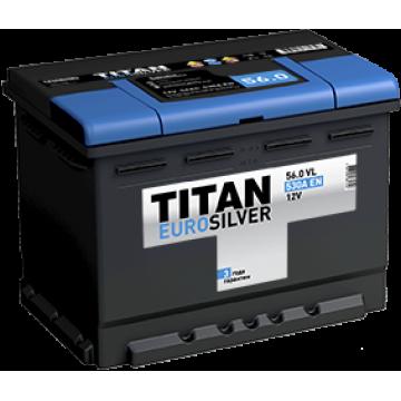 Аккумуляторная батарея TITAN EUROSILVER 6СТ-56.1 VL п.п.  (530А)