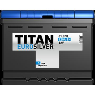 Аккумуляторная батарея TITAN EUROSILVER 6СТ-61.0 VL о.п.  (620А)