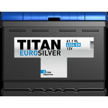 Аккумуляторная батарея TITAN EUROSILVER 6СТ-61.1 VL п.п.  (620А)