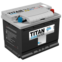 Аккумулятор TITAN EUROSILVER 6СТ-76.0 VL о.п.  (730А)