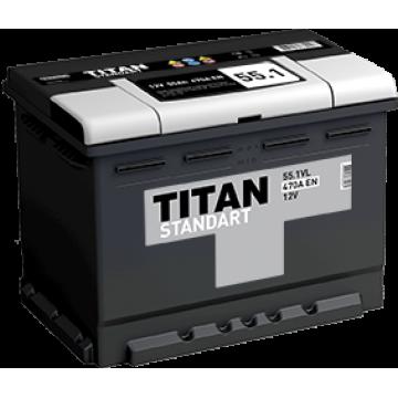 Аккумуляторная батарея TITAN STANDART 6СТ-55.1 L п.п.  (470А)