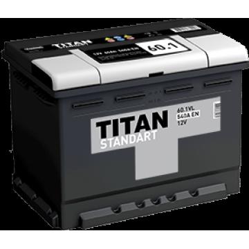 Аккумуляторная батарея TITAN STANDART 6СТ-60.1 L п.п.  (540А)