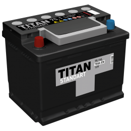 Аккумулятор TITAN STANDART 6СТ-75.1 VL п.п.  (650А)