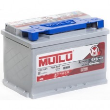 Аккумулятор 6СТ-75 АЗ о.п. MUTLU SFB M3 низкая
