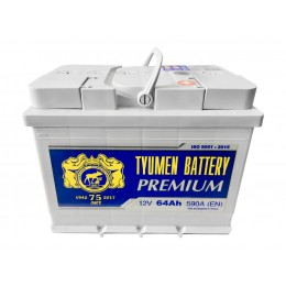 Аккумулятор Тюмень Премиум 6СТ-64 о.п.