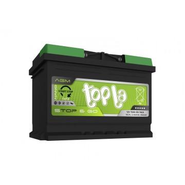 Аккумулятор Topla AGM Stop&Go 12V 70 о.п,