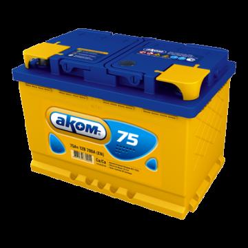 Аккумуляторная батарея Аком 6ст-75 о.п.