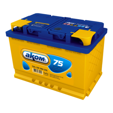 Аккумуляторная батарея Аком 6ст-75 п.п.
