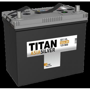 Аккумулятор TITAN ASIASILVER  6СТ-57.1 VL п.п.  (500А)