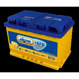 Аккумулятор АКОМ +EFB  6СТ-75 о.п.