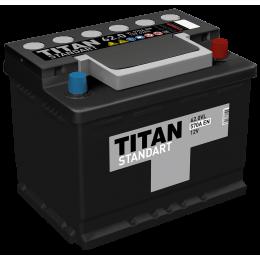 Аккумулятор TITAN STANDART 6СТ-62.0 VL о.п.  (550А)
