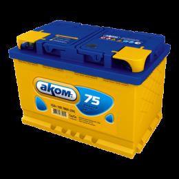Аккумулятор АКОМ 6СТ-75 п.п.