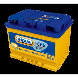 Аккумулятор АКОМ +EFB 6СТ-60 о.п.